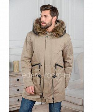 Мужская куртка - парка с меховым капюшономАртикул: R-18672-2-EN