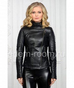 Женская весенняя куртка -косуха из натуральной кожиАртикул: T-I-005-CH