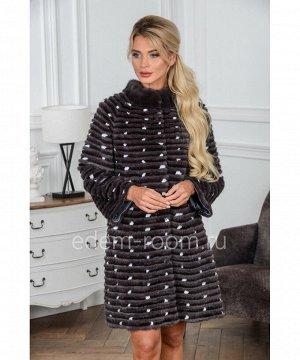 Пальто из норки в росшив на кашемиреАртикул: 17014-90-UG-CH