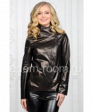 Весенняя женская кожаная куртка из натуральной кожиАртикул: NS-703-CH