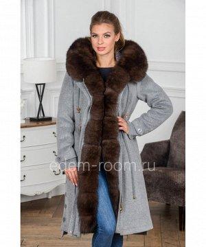 Кашемировая парка - пальто с мехомАртикул: VN-5305-110-SR-P