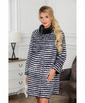 Норковое пальто на кашемиреАртикул: 17014-90-GR-BL