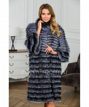 Меховое пальто на кашемиреАртикул: RE-82050-110-CH