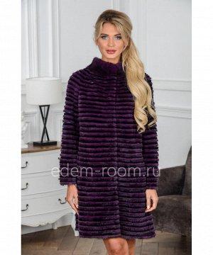 Меховое пальто из норки и кроликаАртикул: 17014-90-FL