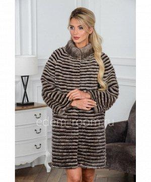 Комбинированное меховое пальтоАртикул: 17014-90-TTR