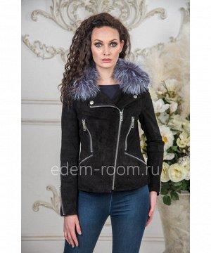 Замшевая куртка со съёмных меховым воротникомАртикул: TG-18025-55-Z-CH
