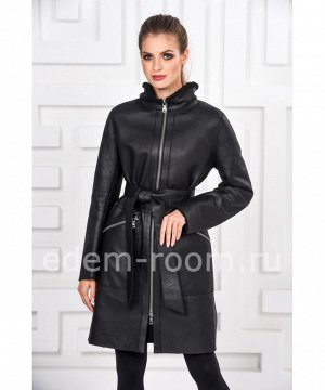 Модная женская дублёнка с покрытием силкаАртикул: AL-1091-95-CH