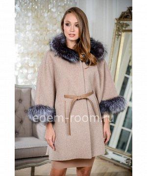 Пальто - пончо с капюшономАртикул: RE-82065-2-85-KP-CH