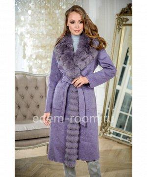 Осенне - весеннее пальто с мехомАртикул: RE-82032-110-FL-P