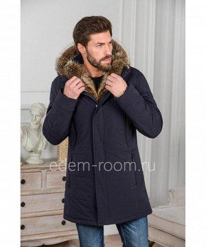 Зимняя куртка с капюшоном из меха Артикул: R-18250-2-SN-EN