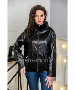 Осенне-весенняя куртка из искусственной кожиАртикул: I-857-60-CH-N
