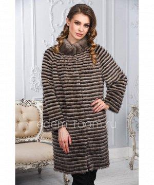 Норковое пальто в росшив на кашемиреАртикул: M-17014-90-SB