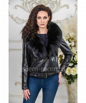 Демисезонная кожаная куртка - 2019Артикул: S-78121-55-P