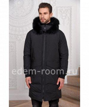 Пуховое пальто с капюшономАртикул: M-2565-CH