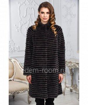 Меховое пальто из норки на кашемиреАртикул: M-17014-100-U-CH