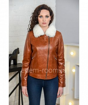 Весенняя кожаная куртка - 2019Артикул: VN-6909-60-K-N
