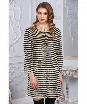 Меховое пальто из норки и кролика РексАртикул: M-17090-90-BG-CH
