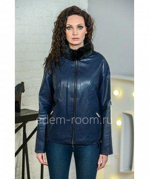 Куртка из эко-кожи со съемным меховым воротникомАртикул: I-857-60-SN-N