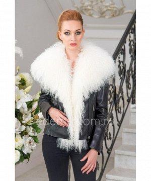 Кожаная куртка с мехом ламыАртикул: S-1826-60-LM
