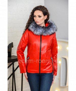 Красная куртка из эко-кожи для весныАртикул: I-8518-60-2-RD-CH
