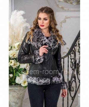 Демисезонная кожаная курткаАртикул: S-1827-65-BR