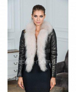 Укороченная кожаная куртка с мехомАртикул: G-1810-55-CH-P