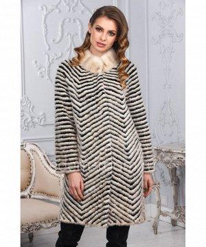 Меховое пальто из меха норкиАртикул: M-17014-90-P-CH