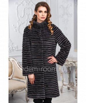 Меховое пальто из меха норкиАртикул: M-17014-100-SR-CH
