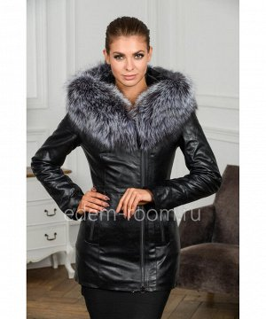 Утеплённая куртка из эко-кожи для осениАртикул: RS-565-70-2-CH-CH