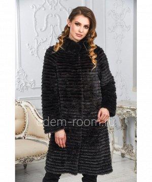 Комбинированное меховое пальто из норкиАртикул: M-17014-100-KR-CH