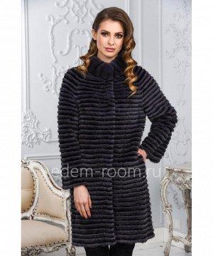Комбинированное меховое пальто из меха норки и кроликаАртикул: M-17014-90-FL-CH
