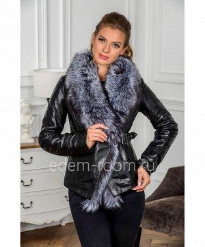 Кожаная куртка с меховым воротникомАртикул: H-133-70-CH
