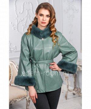 Утеплённая куртка эко-куртки украшенная мехом кроликаАртикул: NT-170-B