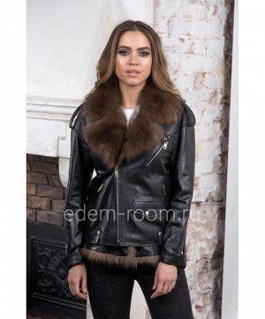 Демисезонная кожаная куртка - жилеткаАртикул: H-18808-CH-SB
