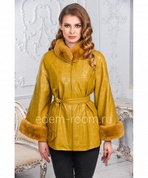 Демисезонная куртка с меховыми манжетамиАртикул: NT-170-LM