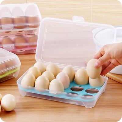 ✌ ОптоFFкa*Всё в наличии* Всё для кухни и дома и отдыха*✌ — Контейнер для яиц пластиковый — Контейнеры