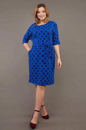 Платье Составвискоза 60%, п\э 37%, эластан 3%. Ткань: плательная, Платье свободного покроя, с цельнокроеным рукавом, в боковых швах внутренние карманы. К платью прилагается пояс. Рукав ¾. Длина ок. 10