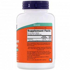 Now Foods, Глицинат магния, 180 таблеток