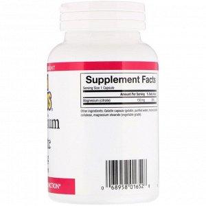 Natural Factors, Цитрат магния, 150 мг, 90 капсул
