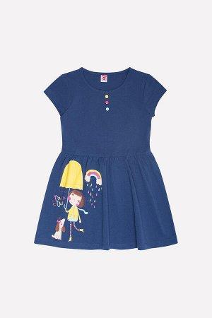 Платье для девочки Crockid К 5573 полуночно-синий
