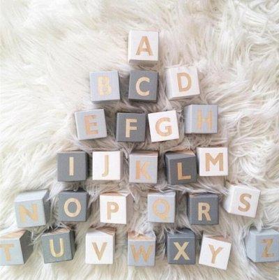 ❤Ковры, пуфики❤ Эко-посуда и много классного  для детей❤  — Кубики английский алфавит — Сувениры