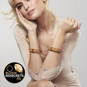 Bijoux Indiscrets MAZE THIN HANDCUFFS BROWN. Наручники коричневые