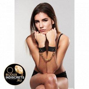 Bijoux Indiscrets WIDE CUFFS BLACK. Наручники широкие черные