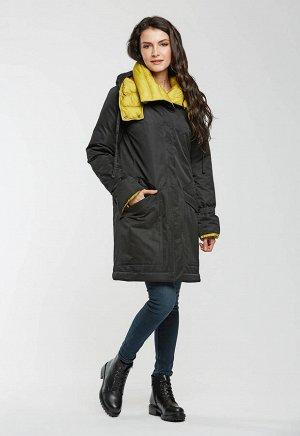 "Пальто ""Брента""  черный (желтый)"