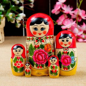"""Матрёшка """"Традиционная"""", 5 кукольная, 16х8 см"""