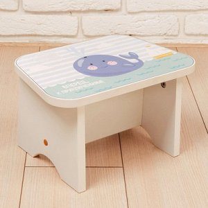 Подставка-стул деревянная «Кит», белый