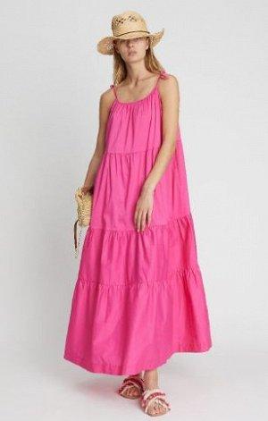 Длинное ярусное платье