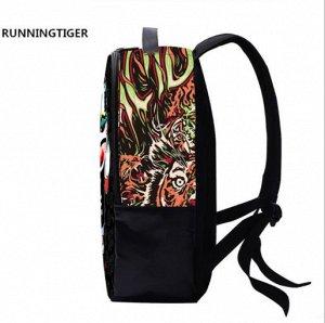 Школьные рюкзаки 3D Running Tiger - A1022-10