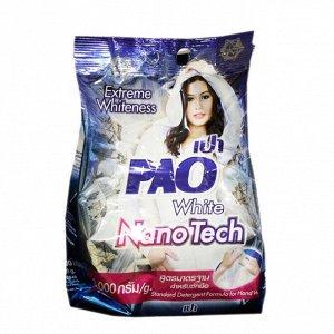 """LION """"PAO M"""" Стир.порошок д/всех типов стир.маш. 1800гр """"White Nano Tech"""" отбеливающий /6шт/Таиланд"""