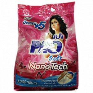 "LION ""PAO M"" Стир.порошок д/всех типов стир.маш. 3000гр ""Soft Nano Tech"" с кондиц. /4шт/ Таиланд"